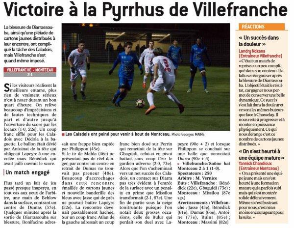 2016 CFA J16 VILLEFRANCHE MONTCEAU 2-1, le 14/01/2017