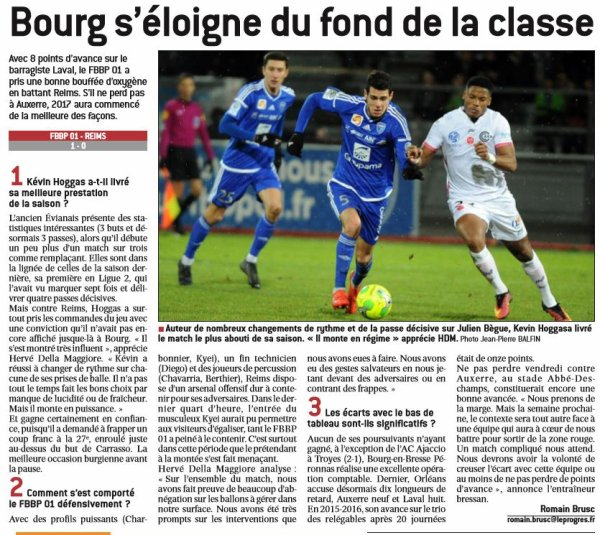 2016 Ligue 2 J20 BOURG en BRESSE REIMS 1-0,les + du Blog, le 15/01/2017
