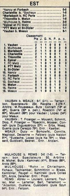 1985 D3 J01 MULHOUSE REIMS 3-0, le 24/08/1985