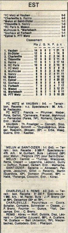 1985 D3 J09 CHARLEVILLE REIMS 4-0, le 19/10/1985