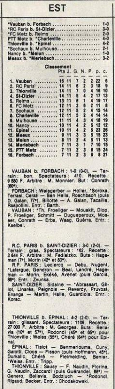1985 D3 J11 METZ REIMS 2-0, le 02/11/1985