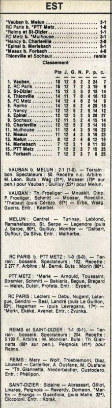 1985 D3 J12 REIMS SAINT DIZIER 1-1, le 16/11/1985