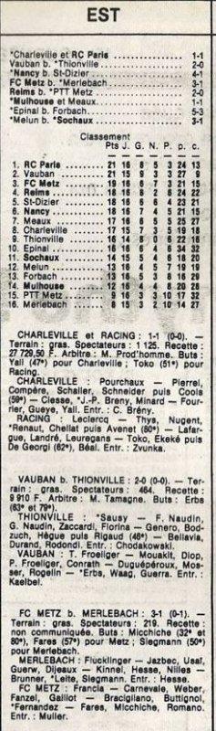 1985 D3 J16 PTT METZ REIMS 0-2, le 11/01/1986