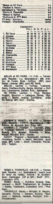 1985 D3 J19 REIMS THIONVILLE 4-0, le 08/02/1986