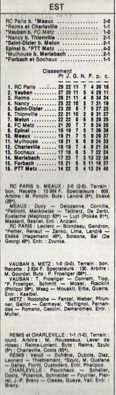 1985 D3 J23 REIMS CHARLEVILLE 1-1, le 15/03/1986
