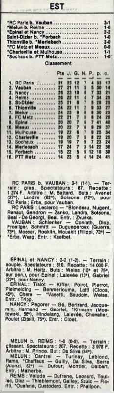 1985 D3 J24 MELUN REIMS 1-0, le 22/03/1986