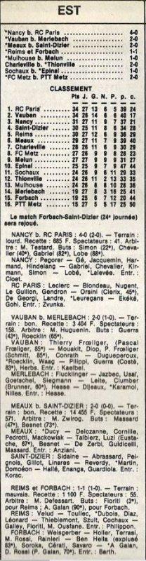 1985 D3 J27 REIMS FORBACH 1-1, le 19/04/1986