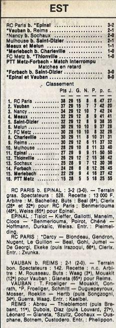 1985 D3 J29 VAUBAN REIMS 2-1, le 03/05/1986
