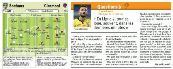 2016 Ligue 2 J21 SOCHAUX CLERMONT 3-3, le 20/01/2017