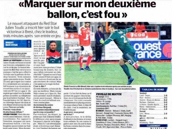 2016 Ligue 2 J21 BREST RED STAR 0-1, le 23/01/2017