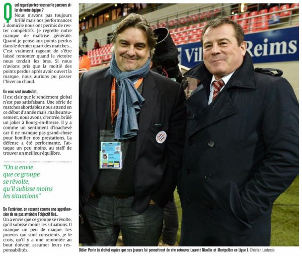 2016 REIMS : l'interview inutile de PERRIN, le 17/01/2017