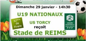 2016 GAMBARDELLA 32ème TORCY REIMS, l'avant match,  le 29/01/2017