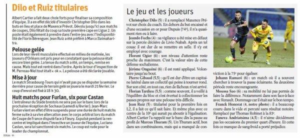 2016 Ligue 2 J22 ORLEANS SOCHAUX 1-0, le 27/01/2017