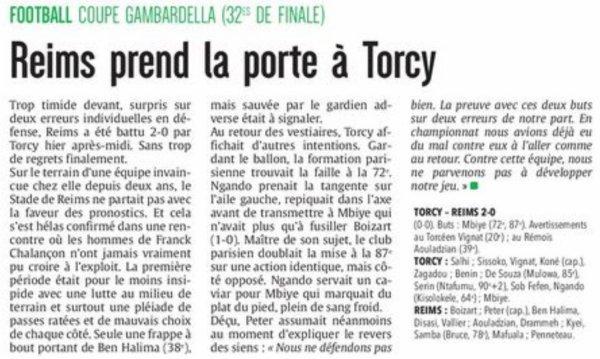 2016 GAMBARDELLA 32ème TORCY REIMS 2-0 , le 29/01/2017