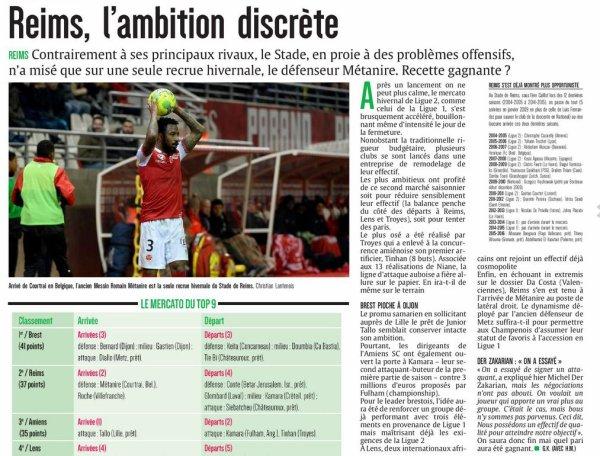 2016 MERCATO : les principaux mouvements en Ligue 2, le 02/02/2017