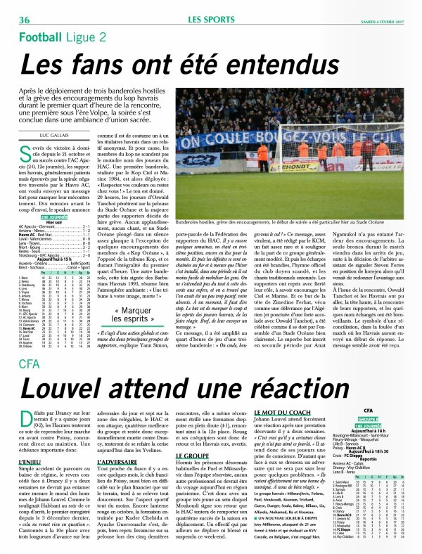 2016 Ligue 2 J23 LE HAVRE RED STAR 1-1, le 03/02/2017