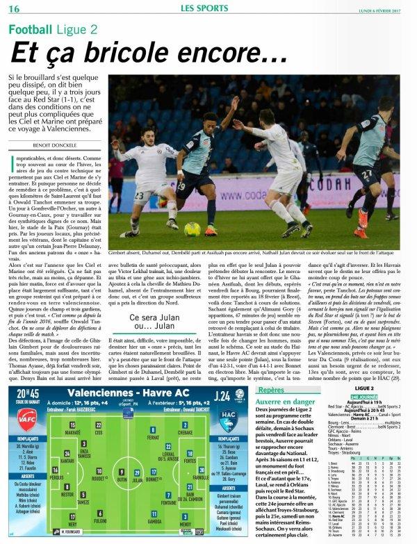 2016 Ligue J24 VALENCIENNES LE HAVRE 0-0, le 06/02/2017