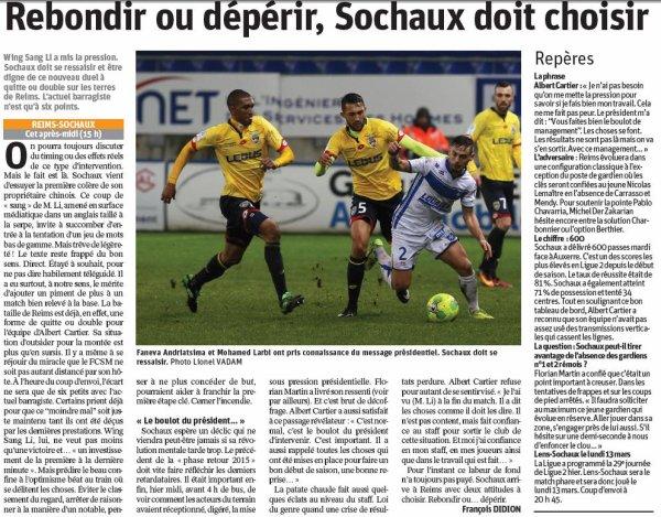 2016 Ligue 2 J25 REIMS SOCHAUX, l'avant match, le 11/02/2017