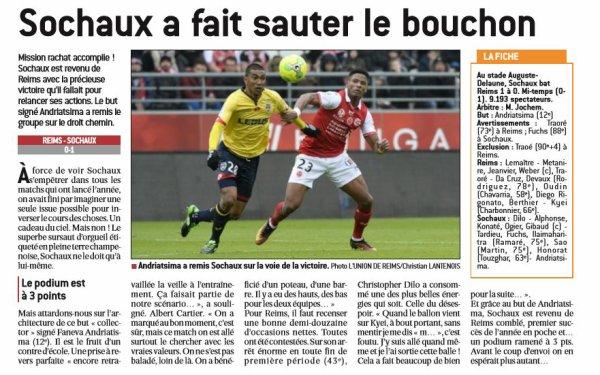 2016 Ligue 2 J25 REIMS SOCHAUX 0-1, le 11/02/2017
