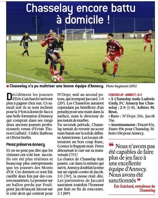 2016 CFA J19 Les AUTRES MATCHES , le 11/12/2017
