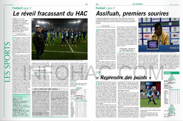 2016 Ligue 2 J25 LE HAVRE BOURG en BRESSE 3-0, le 10/02/2017