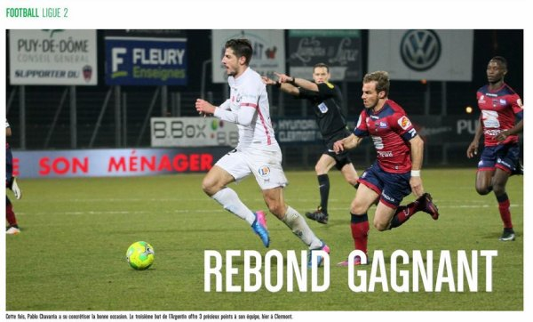 2016 Ligue 2 J26 CLERMONT REIMS 0-1, le 17/02/2017