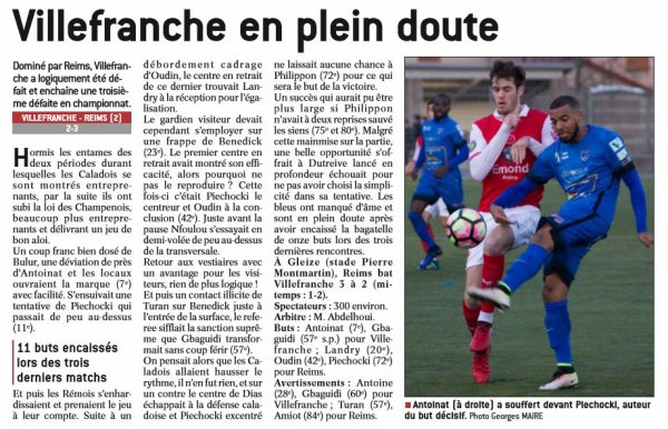 2016 CFA J20 VILLEFRANCHE REIMS 2-3, le 18/12/2017