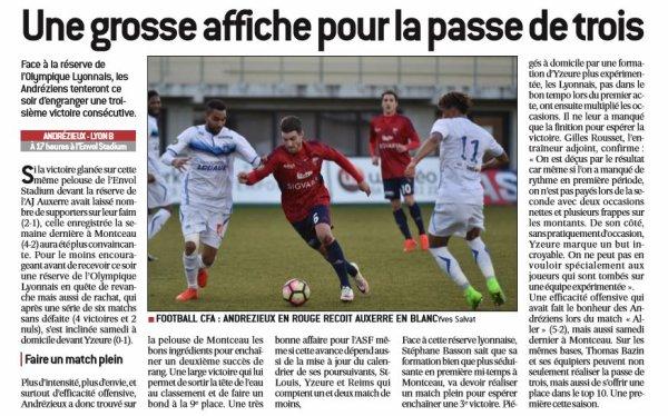 2016 CFA J20 ANDREZIEUX LYON 1-1, le 18/02/2017