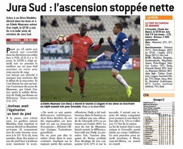 2016 CFA J20 GRENOBLE JURA SUD 3-0, le 18/02/2017