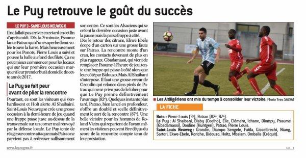 2016 CFA J20 LE PUY SAINT LOUIS 3-0, le 18/02/2017