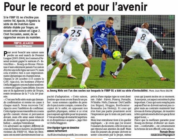 2016 Ligue 2 J22 BOURG en BRESSE AJACCIO 3-2, le 27/01/2017