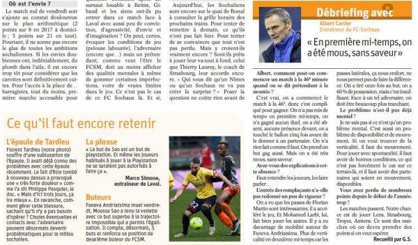 2016 Ligue 2 J26 SOCHAUX LAVAL 1-1, le 17/02/2017