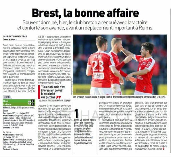 2016 Ligue 2 J26 BREST LE HAVRE 2-0, le 18/02/2017