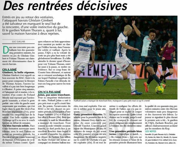 2016 Ligue 2 J27 LE HAVRE AUXERRE 1-0, le 24/02/2017