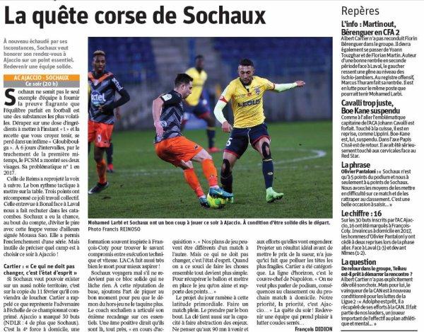 2016 Ligue 2 J27 AJACCIO SOCHAUX 0-0, le 24/02/2017