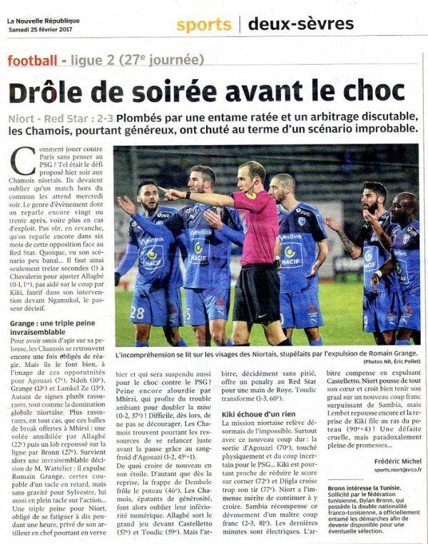 2016 Ligue 2 J27 NIORT RED STAR 2-3, le 24/02/2017