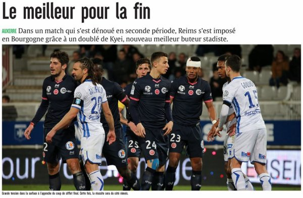 2016 Ligue 2 J28 AUXERRE REIMS 1-2 , le 03/03/2017