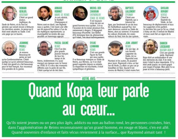 2017  DECES de KOPA, Dossier L'UNION 3/3,   le 03/03/2017