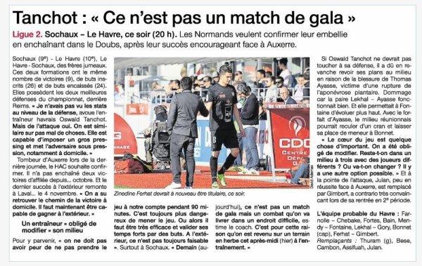 2016 Ligue 2 J28 SOCHAUX LE HAVRE 0-1, le 03/03/2017
