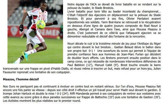 2016 Ligue 2 J28 BREST AJACCIO 1-2, le 03/03/2017