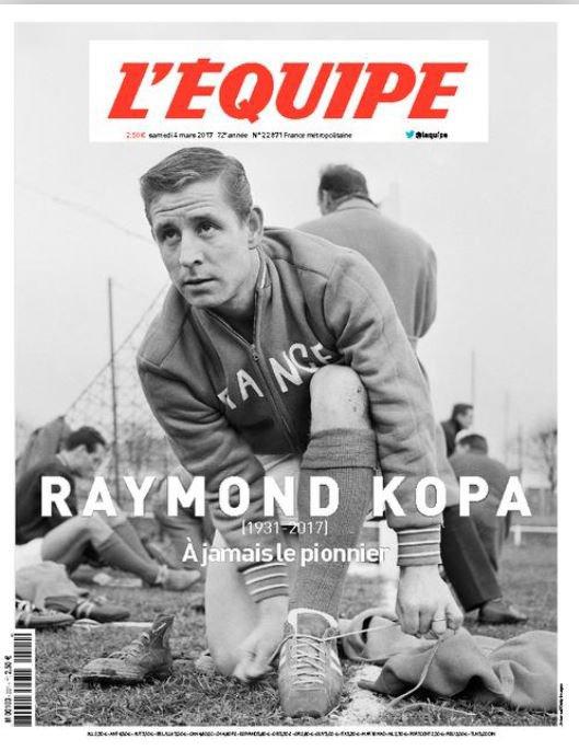 2017 DECES de KOPA, Dossier L'EQUIPE, 1/8 le 03/03/2017