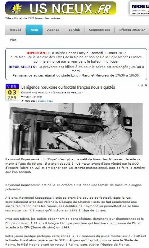 2017 DECES de KOPA : le temps des commémorations, le 07/03/2017