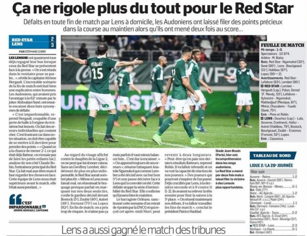 2016 Ligue 2 J28 RED STAR LENS 2-3, le 03/03/2017