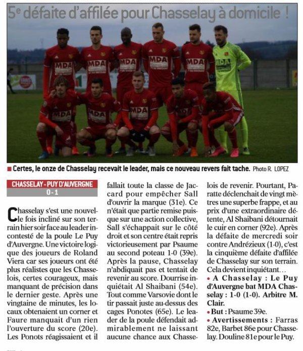 2016 CFA J21 CHASSELAY LE PUY 0-1, le 04/03/2017