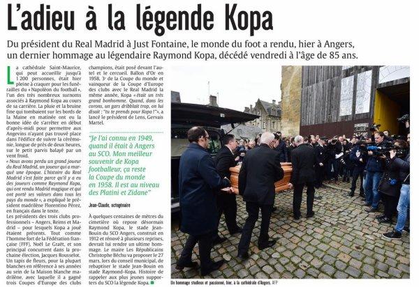 2017  DECES de KOPA : les OBSEQUES à ANGERS, le 08/03/2017