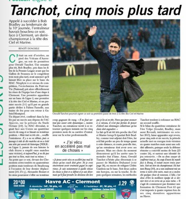 2016 Ligue 2 J29 LE HAVRE CLERMONT 0-1 , le 10/03/2017
