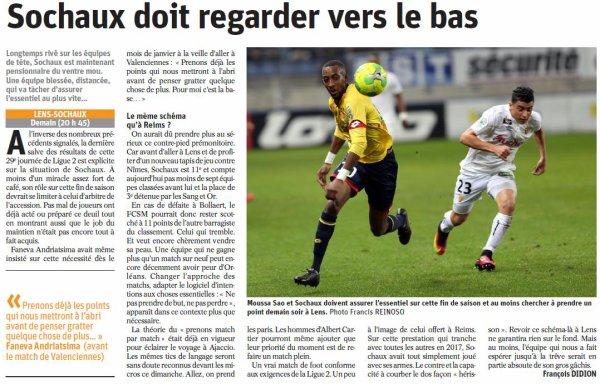 2016 Ligue 2 J29 LENS SOCHAUX 2-1, le 13/03/2017