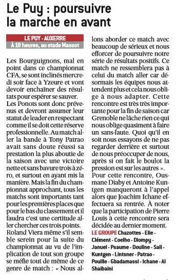 2016 CFA J22 LE PUY AUXERRE 3-1, le 11/03/2017