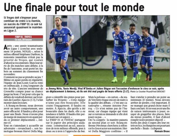 2016 Ligue 2 J30 BOURG en BRESSE TROYES 2-4, le 17/03/2017