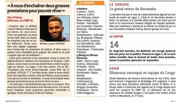 2016 Ligue 2 J29 AMIENS BOURG en BRESSE 2-1, le 10/03/2017